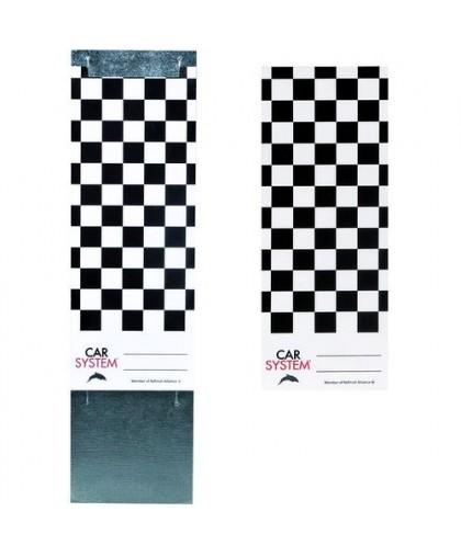 CARSYSTEM Color Match Card Paper - Пластина для тест-напыла с держателем, картон (250шт.)