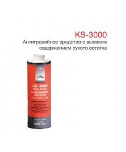 CARSYSTEM KS-3000 Антигравийное покрытие с высоким содержанием сухого остатка белое, окрашиваемое 1л