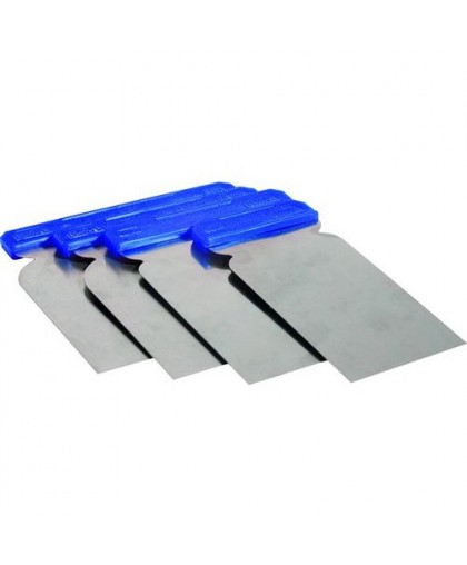 CARSYSTEM Japanspachtel - Набор металлических гибких шпателей (5/8/10/12 см)