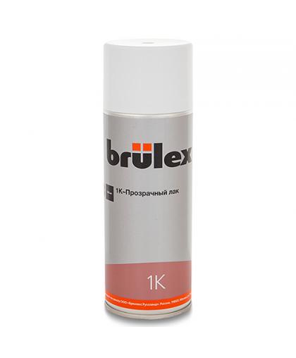 1К Аэрозольный прозрачный лак BRULEX, 400 мл