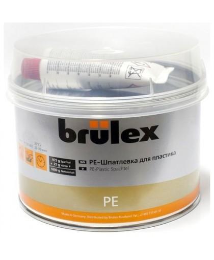 BRULEX PE-Шпатлевка для пластика с отвердителем, 1кг