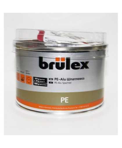 BRULEX PE-Шпатлевка с алюминиевым наполнителем (с отвердит.), 1кг