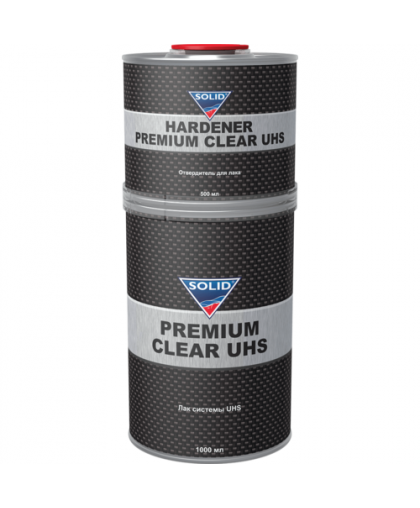 SOLID PREMIUM CLEAR UHS (1000+500мл) - 2K лак системы UHS (в комп. с отвердит.)