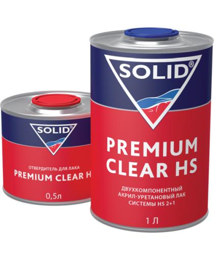 SOLID PREMIUM CLEAR HS (1000+500мл) - 2K лак системы HS (в комп. с отвердит.)