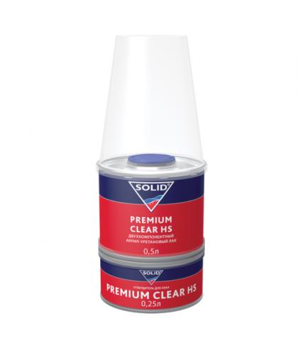 SOLID PREMIUM CLEAR HS (500+250мл) - 2K лак системы HS (в комп. с отвердит.)