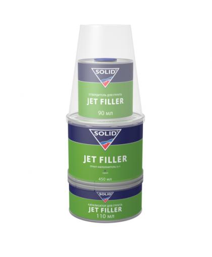 SOLID JET FILLER (650 мл) - 3K-грунт для экспресс ремонта, (в комп. с отвердит.)