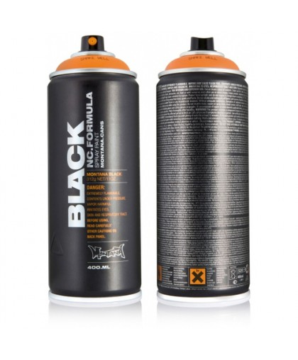 1030BLK MONTANA BLACK 400ML Краска BLACK желтая