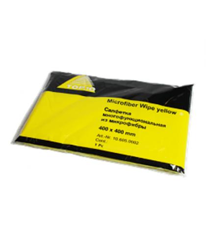 Top10 Многофункциональная салфетка из микроволокна, желтая 400мм х 400мм, 400 х400