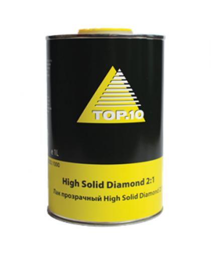 Top10 HIGH SOLID DIAMOND Двухкомпонентный прозрачный лак системы HS 2+1, 1л
