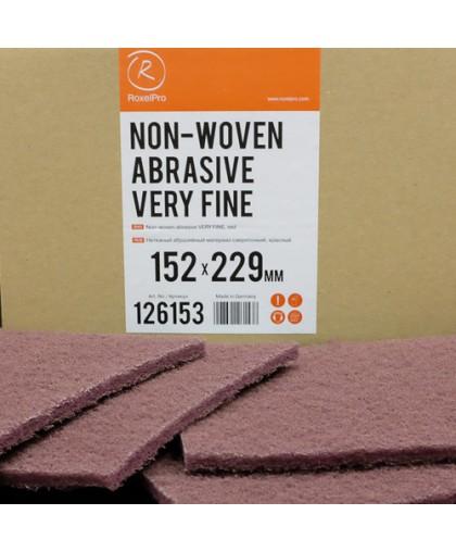RoxelPro Нетканый абразивный материал 152х229мм VERY FINE, красный, (коробка 20шт)