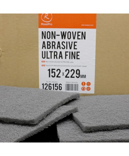 RoxelPro Нетканый абразивный материал 152х229мм ULTRA FINE, серый, (коробка 20шт)