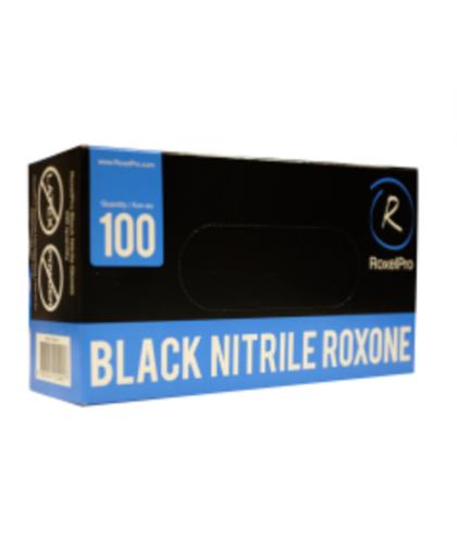 RoxelPro Нитриловые перчатки ROXONE, чёрные, размер L, упаковка 100 шт.