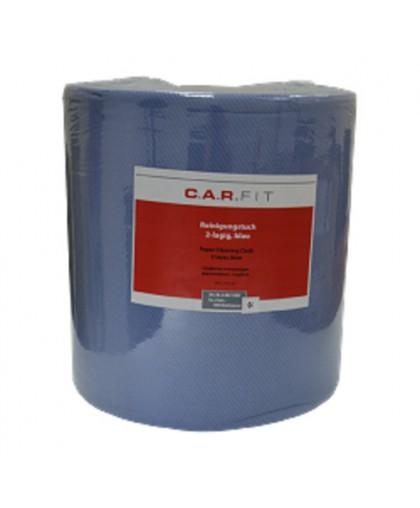 CARFIT Салфетки двухслойные адсорбирующие, без ворса, голубые, 38х37см, 1000штук/рулон