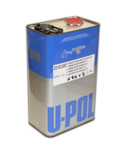 U-Pol S2081SR HS Лак повышенной прочности Clear 2:1, 1 л