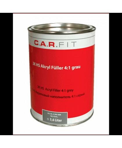 CARFIT 2К Акриловый грунт-наполнитель HS 4:1 серый 3,6 л