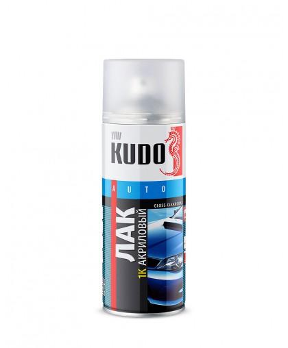 Лак аэрозольный автомобильный акриловый глянцевый Kudo 520мл KU-9010
