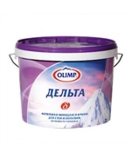 OLIMP ДЕЛЬТА Краска акриловая моющаяся для стен и потолков во влажных помещениях - полуглянцевая