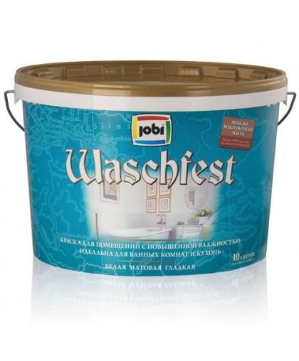 JOBI Краска моющаяся акриловая для ванных комнат и кухонь (хранение до -20С°) - матовая