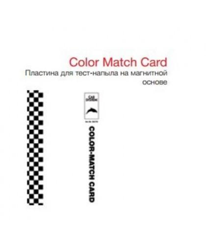 CARSYSTEM Color Match Card - пластина для тест напыла на магнитной основе для многократного применения,100х150