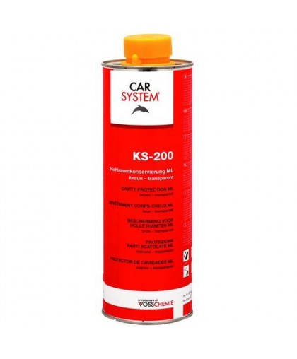 CARSYSTEM KS-200 Восковое антикоррозионное средство для скрытых полостей, коричнево-прозрачный 1л