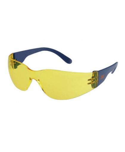 3М 2722 Очки защитныe поликарбонатные открытого типа, цвет линз - желтый AS/AF